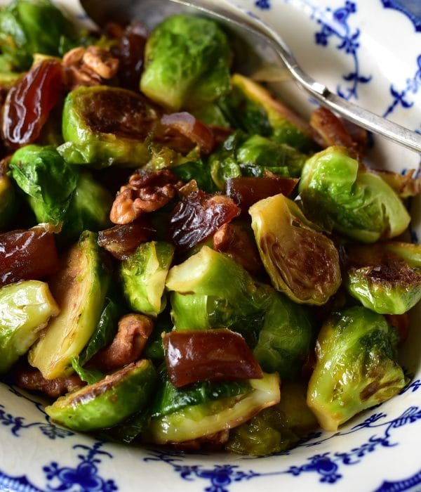 Brussels Sprouts with Dates and Walnuts, MaureenAbood.com