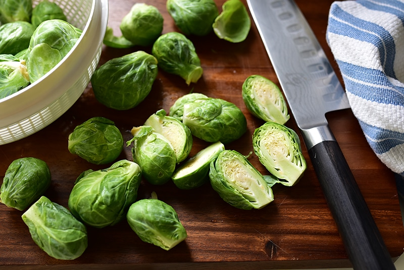 Brussels sprout chop, Maureen Abood