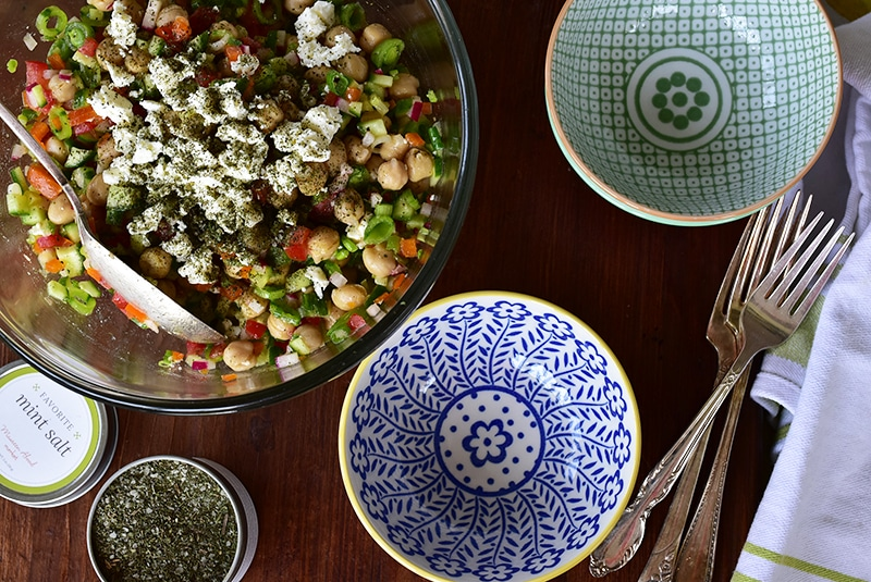 Feta and Chickpea Salad, Maureen Abood