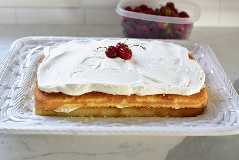 Strawberry Cream Cake, MaureenAbood.com