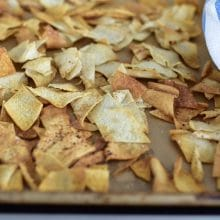 Baked Pita Chips! And how the video got going (cousin-love).