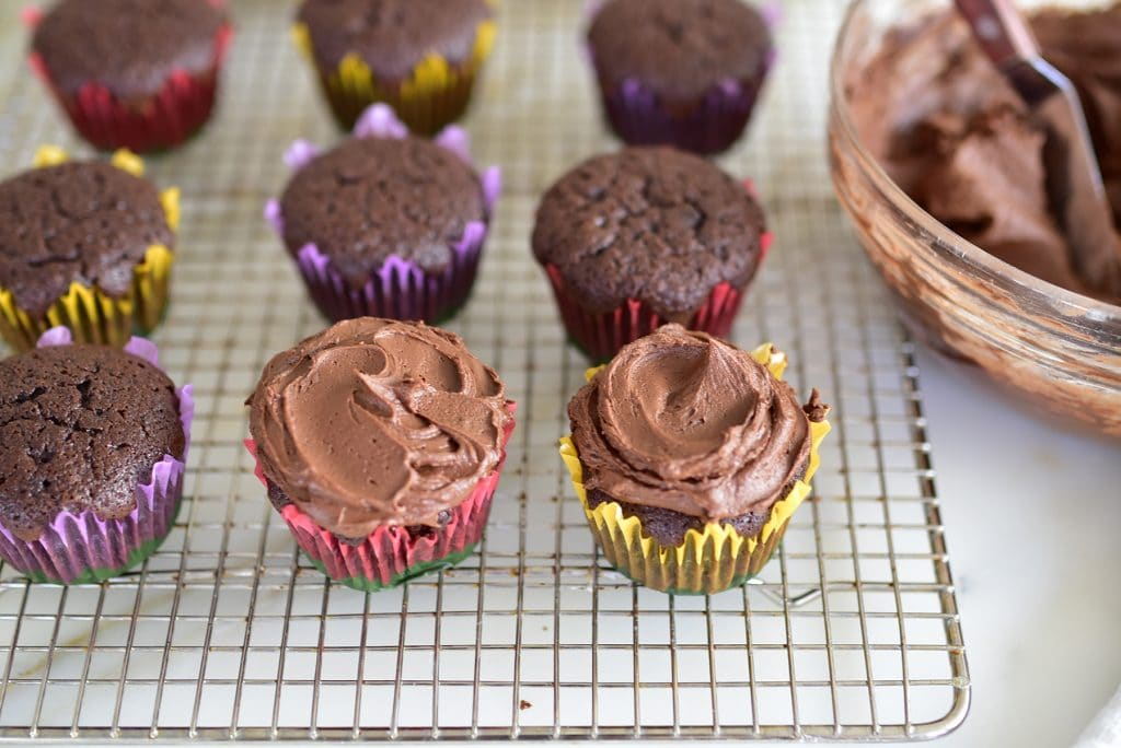 Chocolate Frosted Cupcakes, MaureenAbood.com