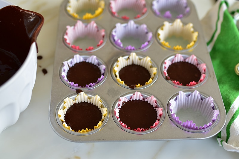 Cupcake batter in cups, MaureenAbood.com