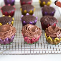 Frosted Chocolate Cupcakes, MaureenAbood.com