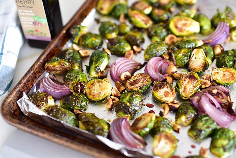Roasted Brussels Sprouts with Mulberry Syrup and Toasted ...
