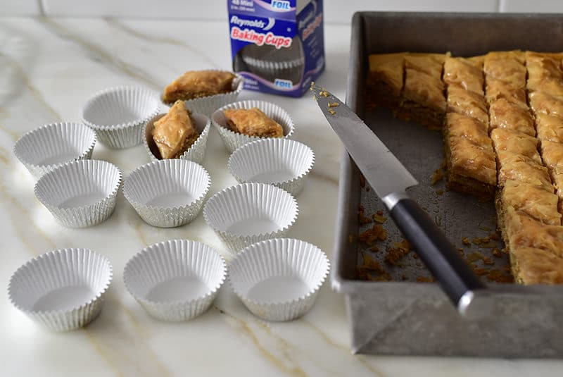 Lebanese Baklawa in baking cups