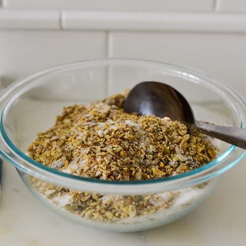 Sugared seeds for nut-free baklawa