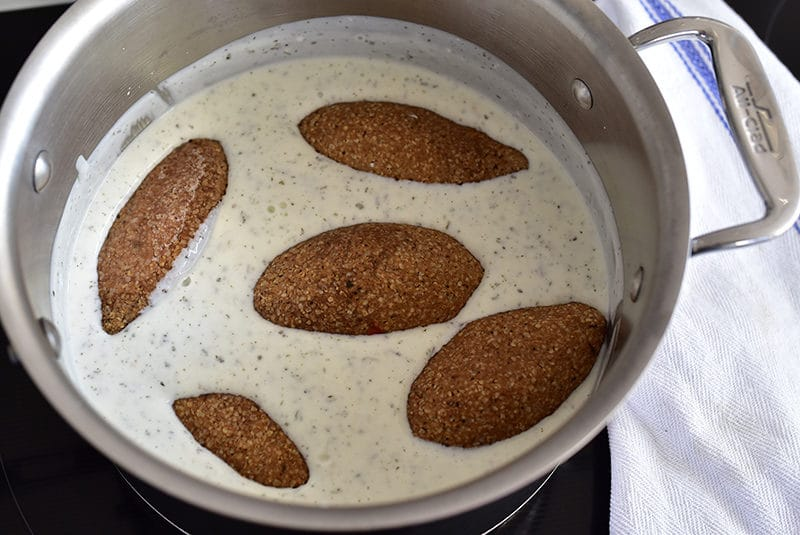 Kibbeh in yogurt sauce, MaureenAbood.com