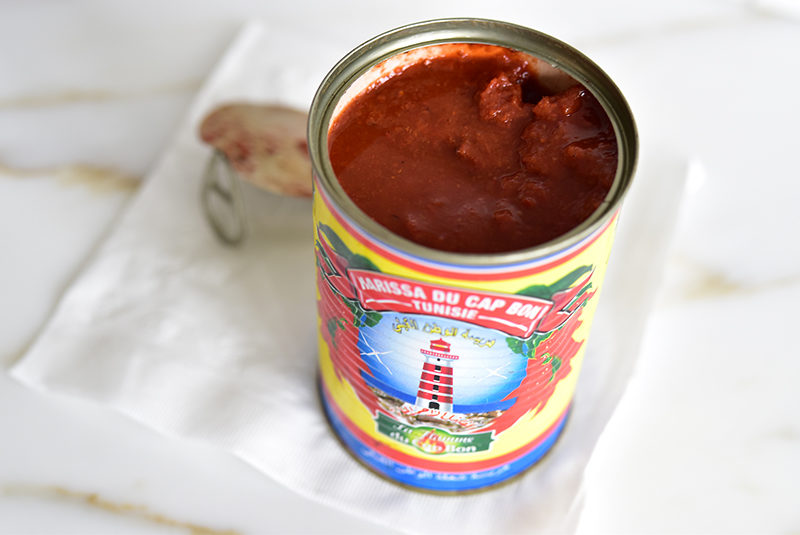 Tunisian harissa in a can