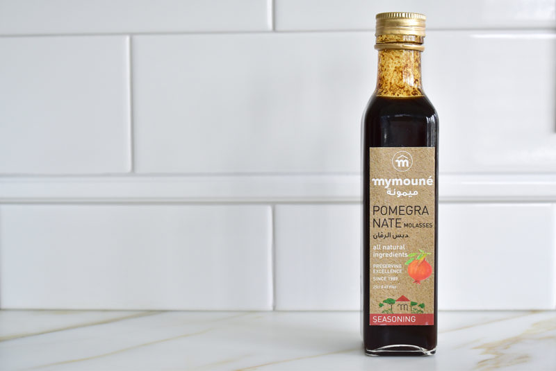 Mymoune Pomegranate Molasses on the counter