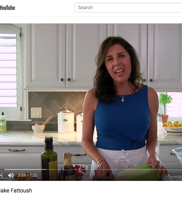 Maureen makes Fattoush on YouTube