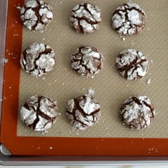 Chocolate Crinkle Cookies with Orange Blossom