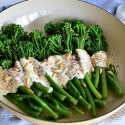Broccolini with Pine Nut Sauce and Sumac