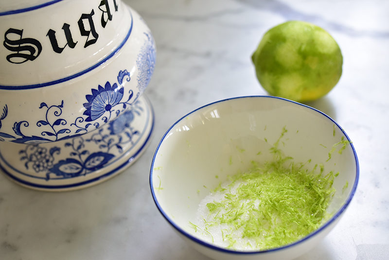Lime zest with sugar