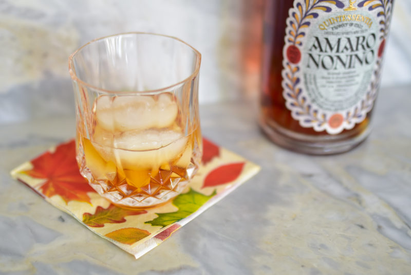 Amaro cocktail on the rocks
