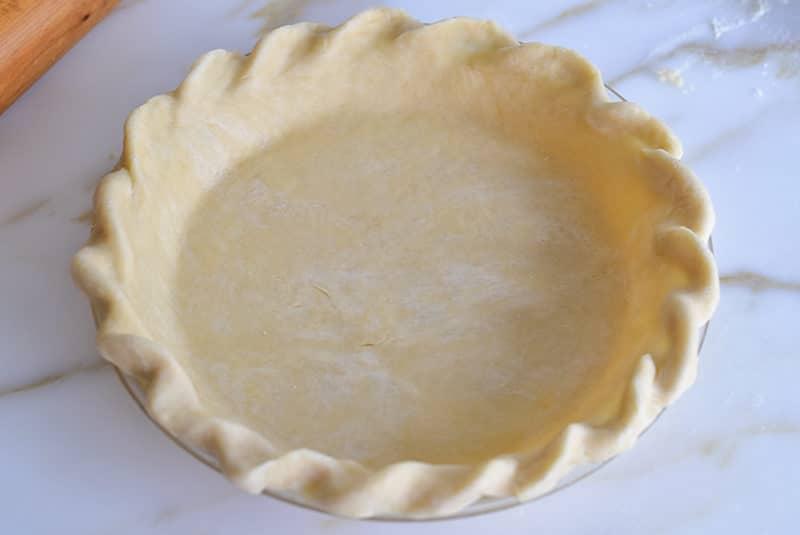 Vegan Coconut Oil Pie Crust crimped