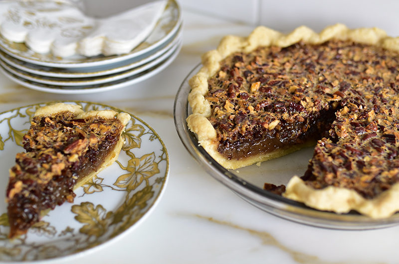 Orange Blossom Pecan Pie slice