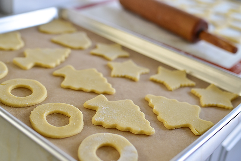 Cut-Out cookies on a sheet pan