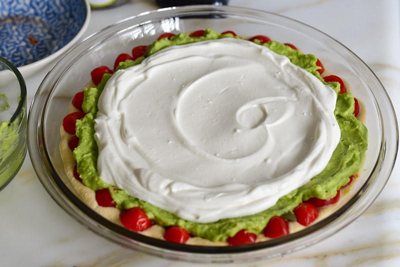 Labneh layer for dip