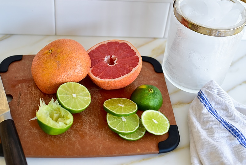 Citrus on a board for a daiquiri