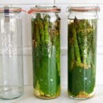Aspargus pickles in weck jars