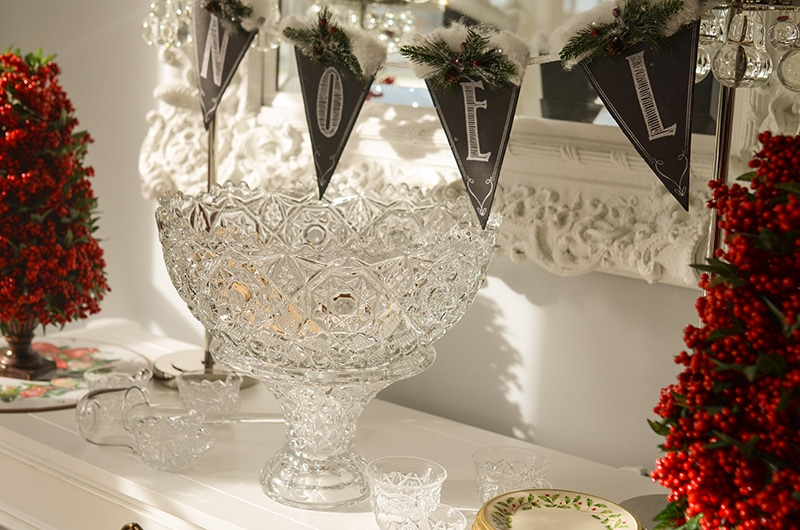 Fostorial Glass crystal punch bowl